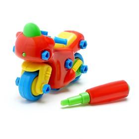 """Конструктор для малышей """"Мотоцикл"""", 33 детали, цвета МИКС"""