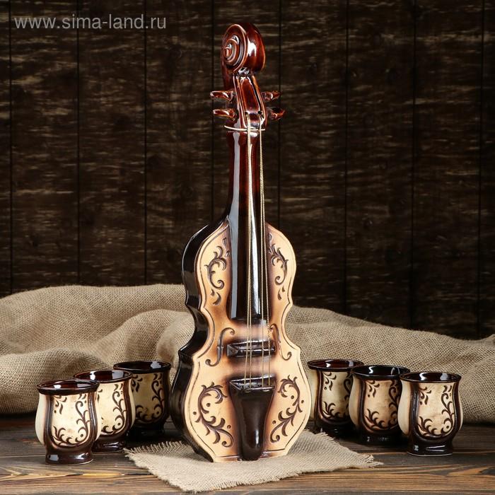 """Штоф с рюмками """"Симфония"""" 7 предметов, 0,75 л/ 0,1 л"""