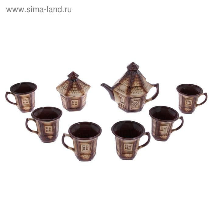 """Чайный набор """"Фильварок"""" 8 предметов: чайник 1,5 л, сахарница 0,7 л, кружки 0,45 л"""