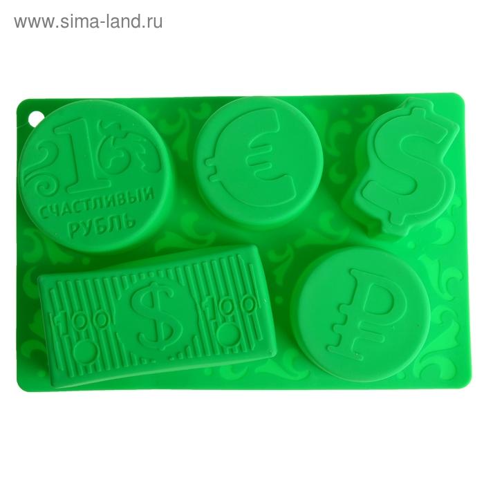 """Форма для выпечки """"Счастливый рубль"""", зеленый, 27 х 17,5 см, глубина 4,3 см"""