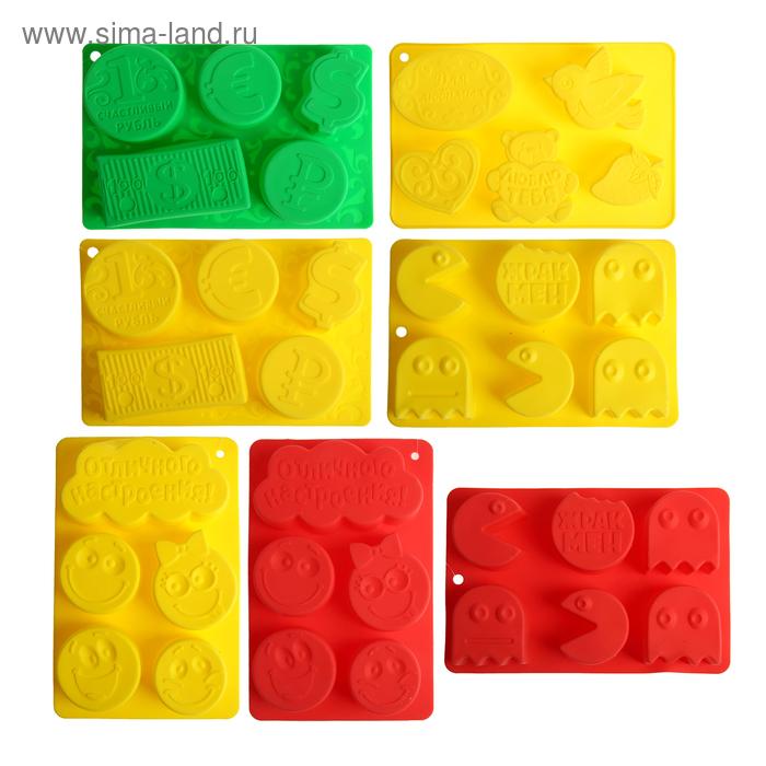 """Форма для выпечки """"Для любимых"""", желтый, 27 х 17,5 см, глубина 4,3 см"""