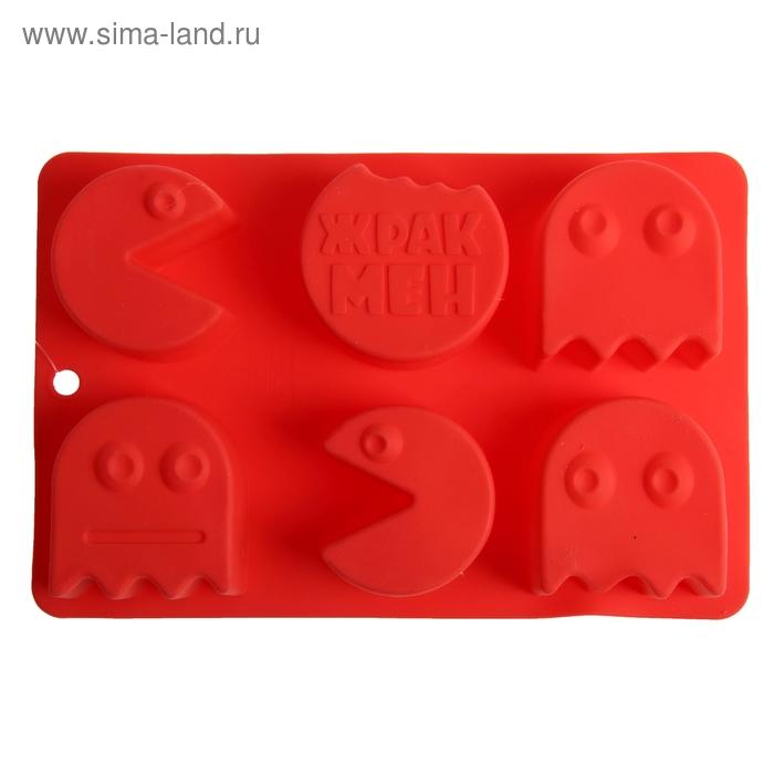 """Форма для выпечки """"Жракмен"""", красный, 27 х 17,5 см, глубина 4 см"""