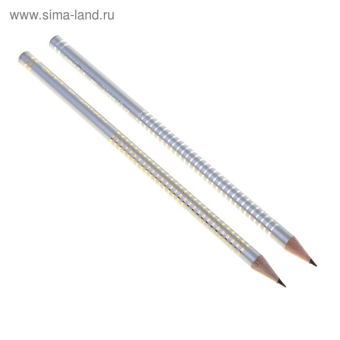Карандаш чернографитный Adel HB ELEGANCE 205-1162-004 корпус: серо-стальной 81407