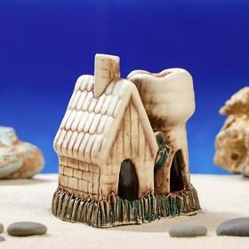 """Декорации для аквариума """"Домик с башней"""" глазурь, микс"""