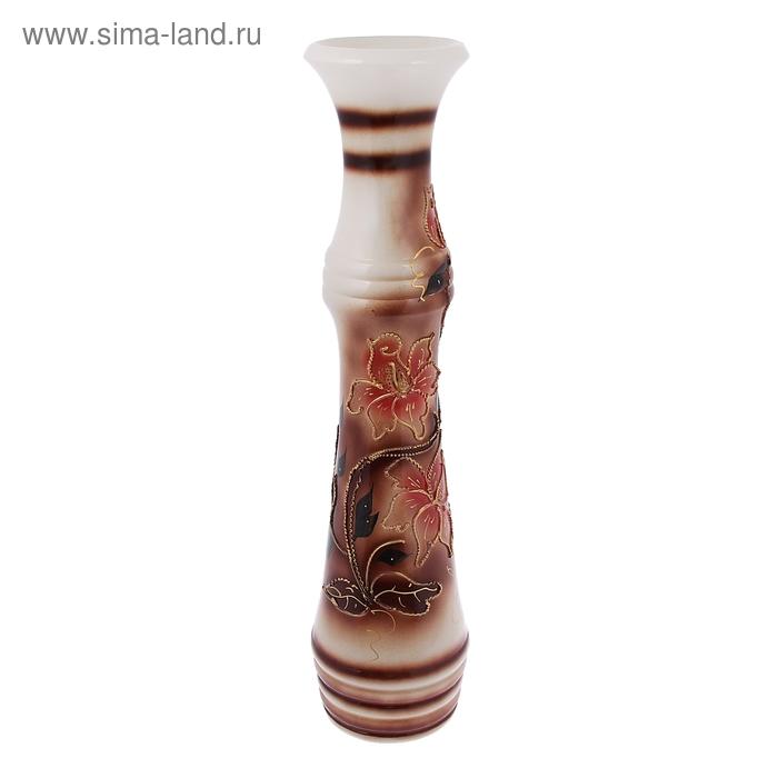 """Ваза напольная """"Азиза"""" глазурь, коричневая"""