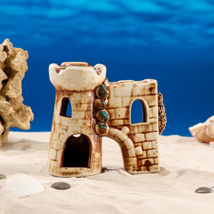 """Декорации для аквариума """"Башня с гротом"""" большая"""
