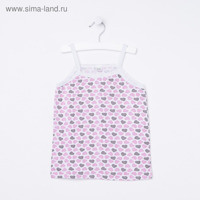 Майка для девочки, рост 104-110 см, цвет МИКС