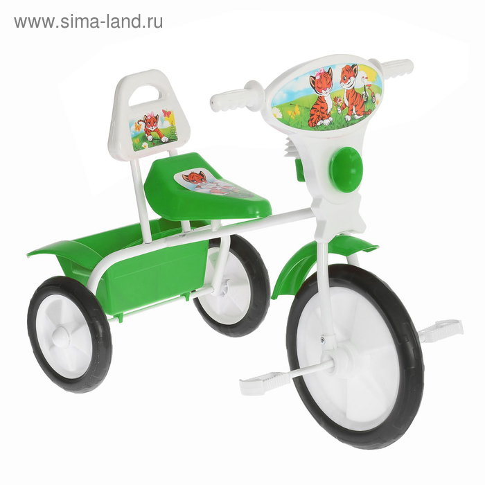 """Велосипед трехколесный  """"Малыш""""  06П, цвет зеленый, фасовка: 2шт."""
