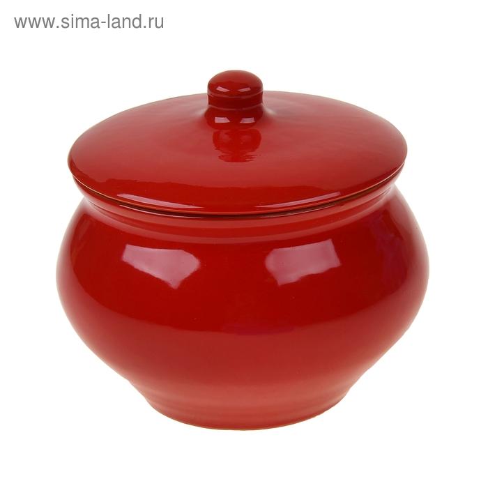 """Горшок для жаркого 1,3 л """"Красный"""""""