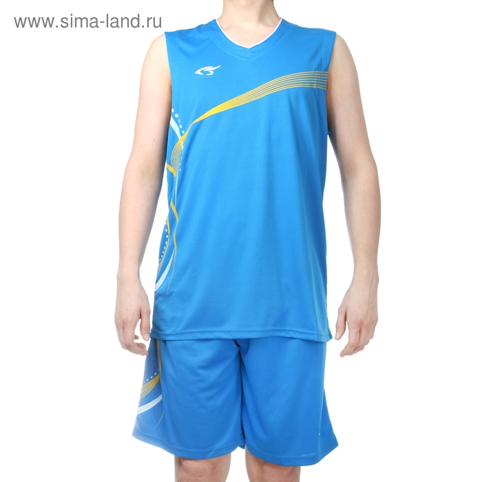 Форма баскетбольная 3XL, рост 175-180 см, цвет син-желтый