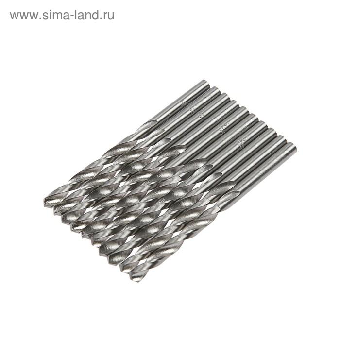 Сверло по металлу MATRIX, 5 мм, полированное, 10 шт, цилиндрический хвостовик