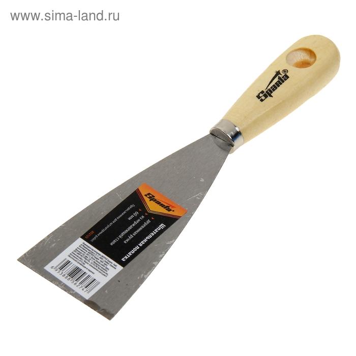 Шпатель малярный Sparta, 60 мм, нержавеющая сталь, ручка дерево
