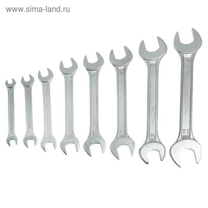 Набор ключей рожковых Sparta, 6 х 22 мм, 8 шт., хромированные