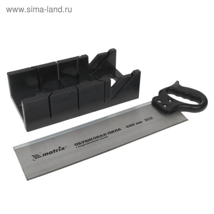 Стусло MATRIX, 300 х 100 мм, пластиковое + пила, 400 мм