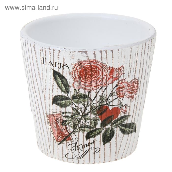 """Кашпо """"Цветы"""" рельефное"""