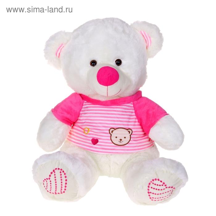 """Мягкая игрушка """"Белый мишка"""", в розовой футболке"""