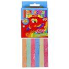 Мел школьный цветной набор 6 цветов по 2 шт каждого, квадратный, беспыльный, в картон коробке
