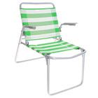 Кресло-шезлонг складное, цвет салатово-белый