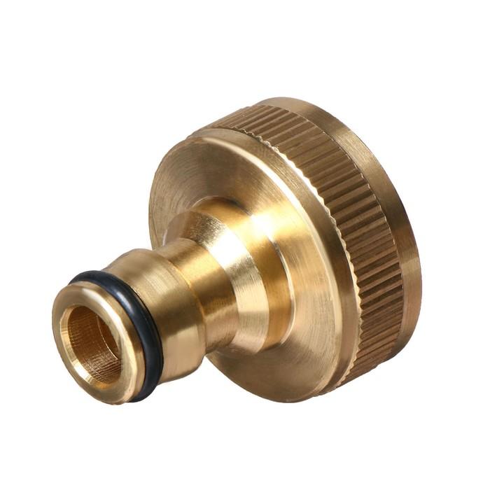 """Коннектор стартовый, d=1"""" (25 мм), внутренняя резьба, латунь"""