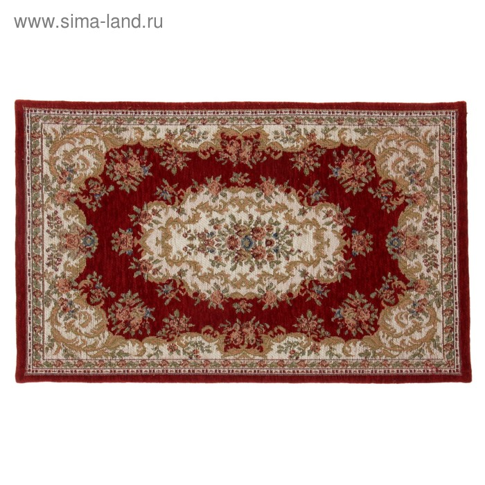 """Коврик для дома 60х90 см """"Персидский"""", цвет красный"""