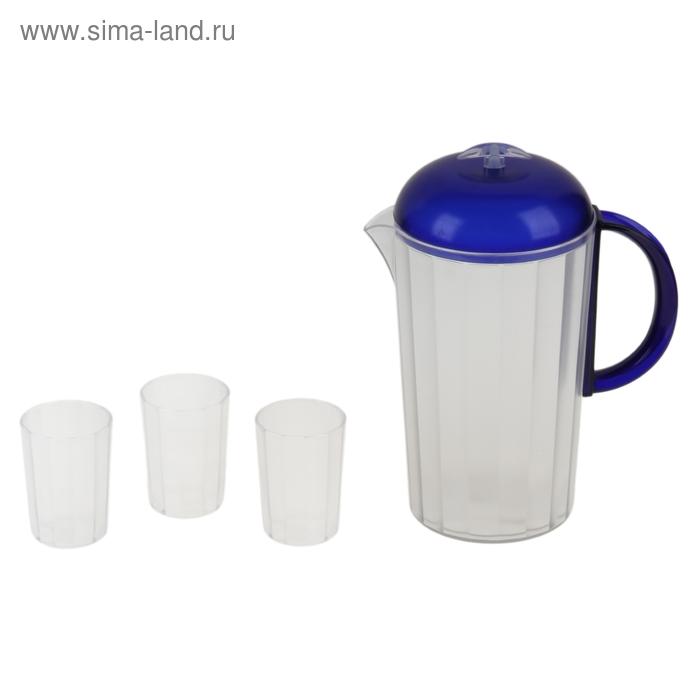 """Набор для напитков """"Санти"""", синий"""