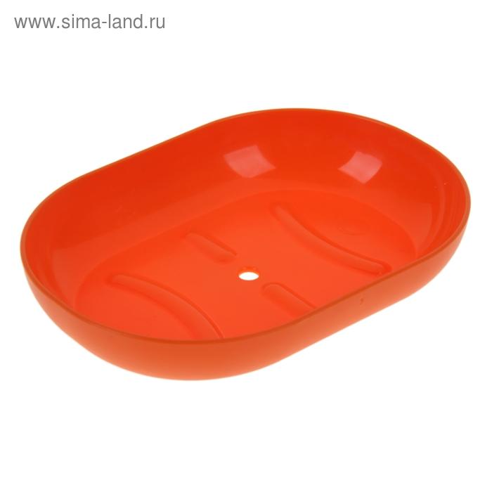 Мыльница Aqua, цвет мандарин