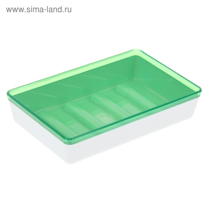 Мыльница Spacy, цвет зеленый полупрозрачный