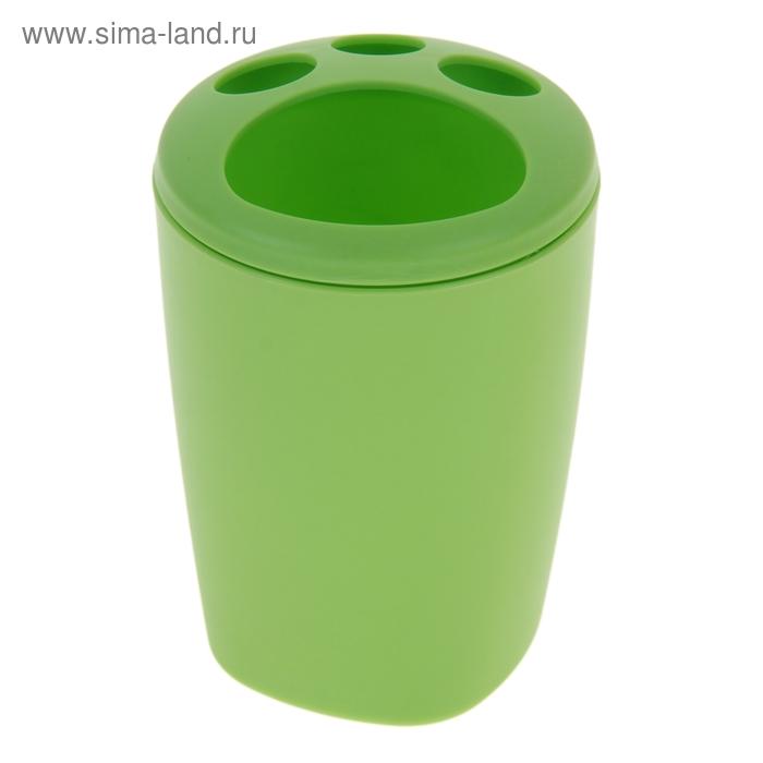 """Подставка для зубных щеток """"Aqua"""", цвет зеленый"""