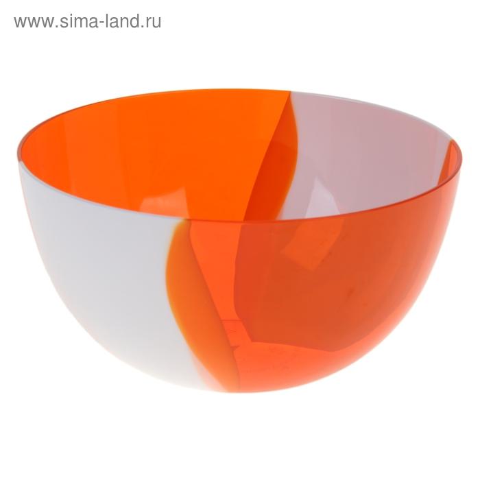Салатник Dolce, 1 литр, оранжево-белый