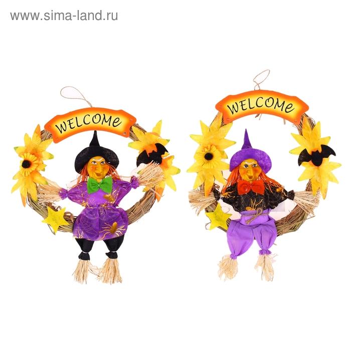 """Венок Welcome """"Баба-Яга в штанах"""", цвета МИКС"""