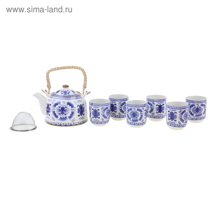 """Набор для чайной церемонии 7 предметов """"Династия"""" (чайник 900 мл, чашка 70 мл)"""
