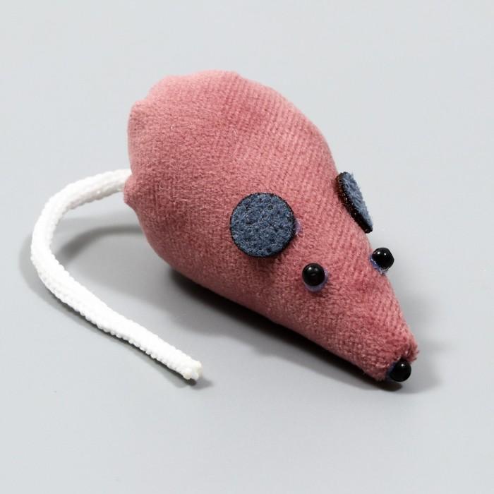 """Игрушка для кошек """"Мышка"""", 8 см, микс цветов"""