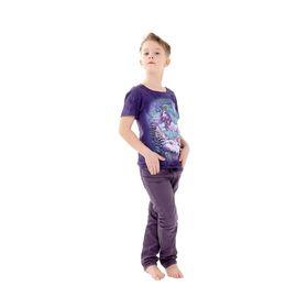 Футболка детская Collorista 3D Winter tale, возраст 10-12 лет, рост 146-152 см, цвет фиолетовый