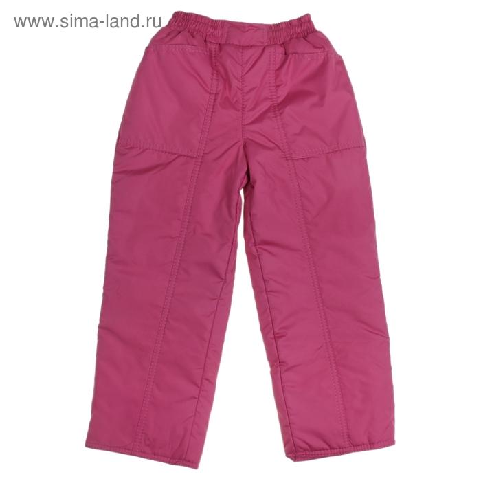 Брюки для девочки 60202 рост 110-116 (30), цвет светло-бордовый