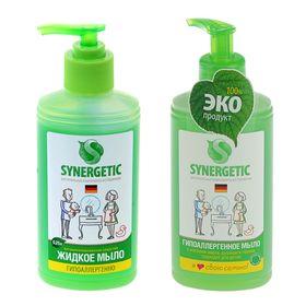 Мыло жидкое биоразлагаемое Synergetic, для мытья рук 0,25л с дозатором