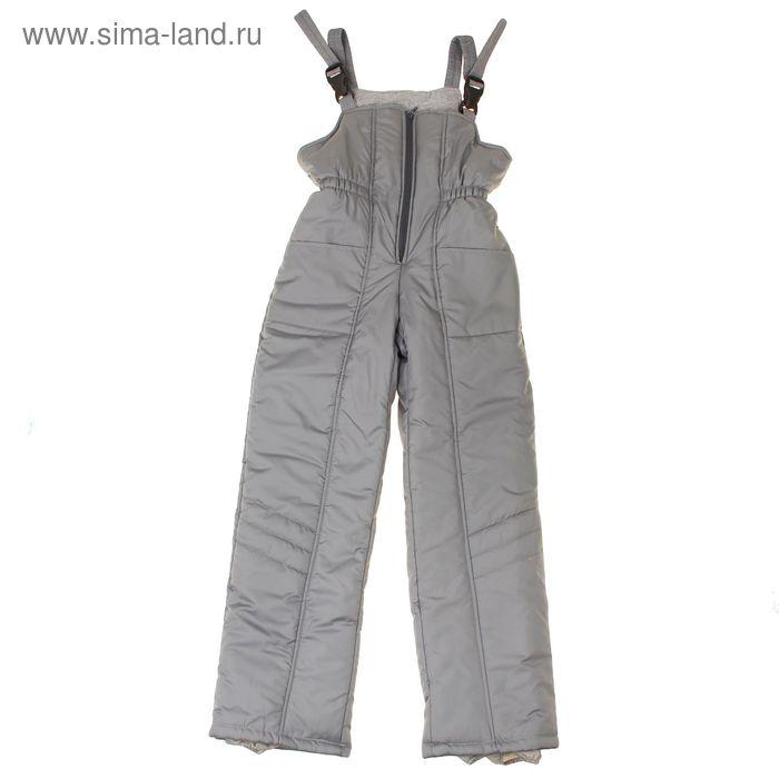 Полукомбинезон для мальчика 50905 рост 128-134 (36), цвет серый