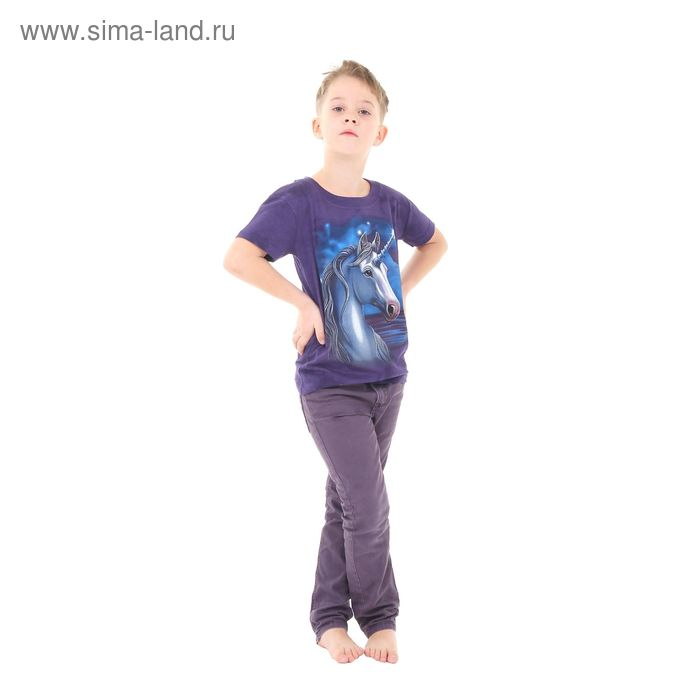 Футболка детская Collorista 3D Moonshine, возраст 8-10 лет, рост 134-140 см, цвет фиолетовый