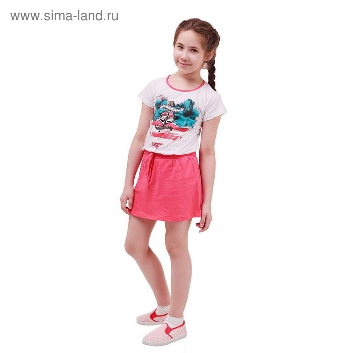 Платье с коротким рукавом для девочки, рост 128 см (8 лет), цвет микс Л214
