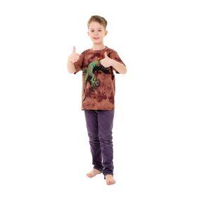 Футболка детская Collorista 3D Reptile, возраст 8-10 лет, рост 134-140 см, цвет коричневый
