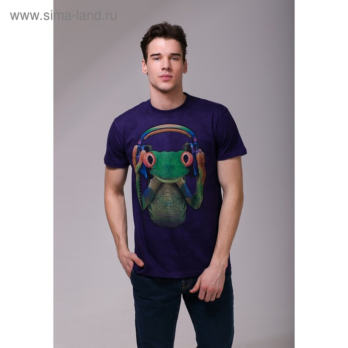 Футболка мужская Collorista 3D Frog, размер XL (50), цвет фиолетовый