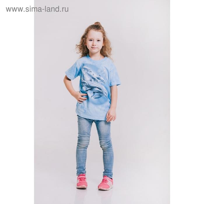 Футболка детская Collorista 3D Dolphin, возраст 6-8 лет, рост 122-134 см, цвет голубой