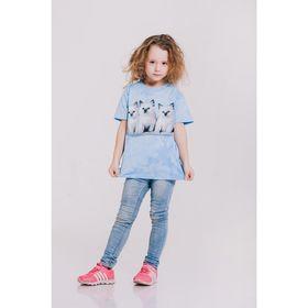 Футболка детская Collorista 3D Kittens, возраст 10-12 лет, рост 146-152 см, цвет голубой