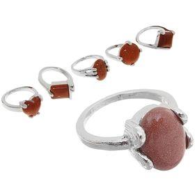 Кольцо 'Авантюрин' малое, форма МИКС, цвет коричневый, размер МИКС Ош