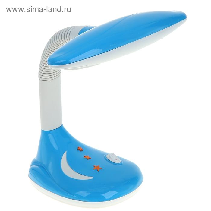 """Лампа настольная LED """"Звезды с месяцем"""" с выкл. голубая"""