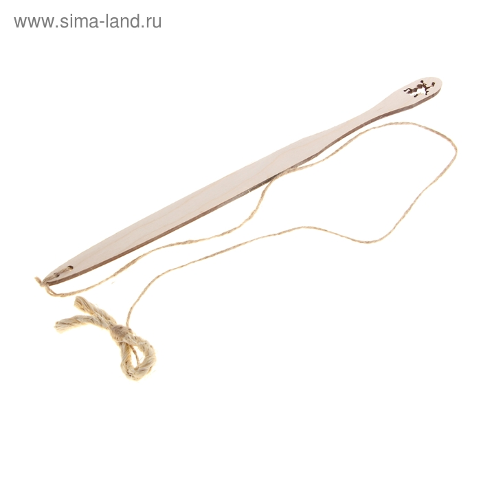 Дразнилка с деревянной ручкой  и сизалевым бантом для кошек, длина 30 см