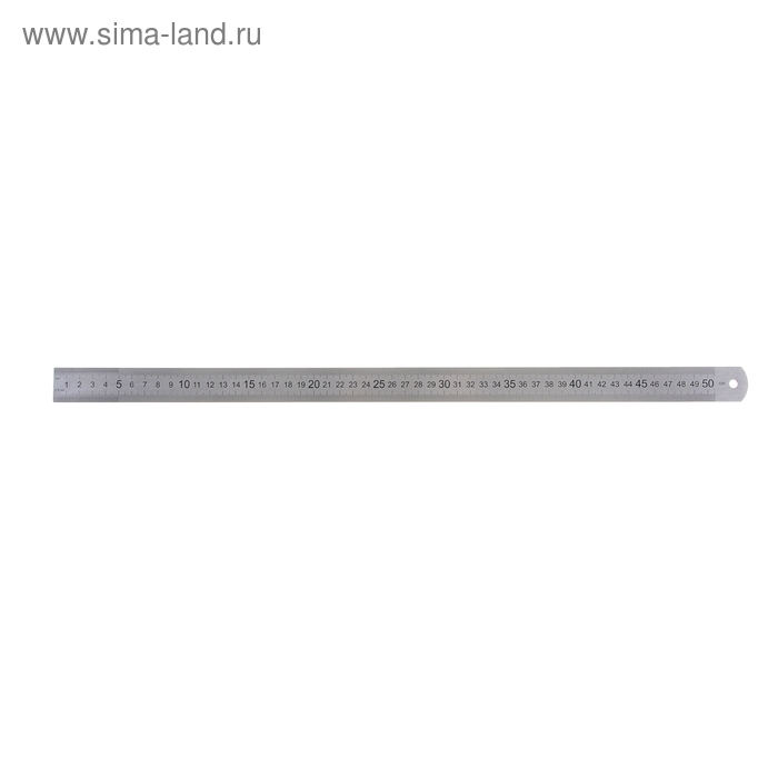 Линейка стальная (пружинистая нержавеющая) 50 см ЛС-ПР-50