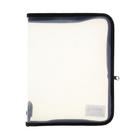 Папка для тетрадей А5 «Офис» молния вокруг, пластиковая, прозрачная, чёрная