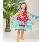 Детское полотенце-пончо с капюшоном Маленькая фея 60 х 120 см, хлопок 280 гр/м2