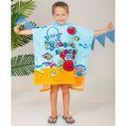 Детское полотенце-пончо с капюшоном Морская братва 60 х 120 см, хлопок 280 гр/м2