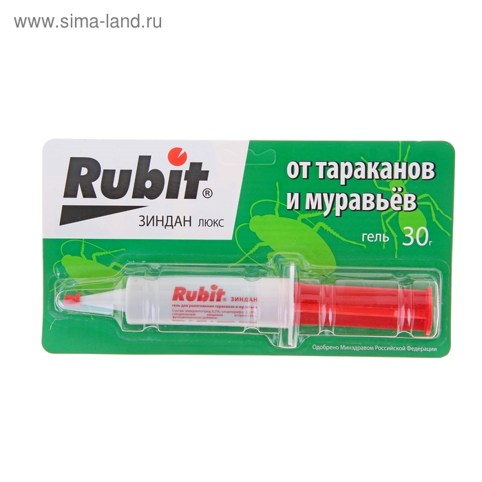 "Средство от тараканов и муравьев Rubit ""Зиндан"" гель люкс 30 г"